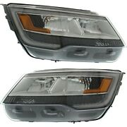 New Headlight Driving Head Light Headlamp Driver And Passenger Side Lh Rh For Ford