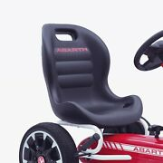 Abarth Licensed Kids Pedal Go Kart Ride On With Brake Lever And Eva Wheels