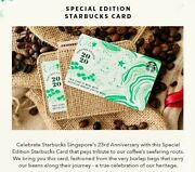 Special Ed Starbucks Singapore 23rd Anniversary Heritage Card 2020 And Cardholder