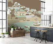 3d Port Isaac House P041 Wallpaper Mural Self-adhesive Removable Steve Read Amy