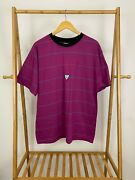 Rare Vtg Guess Georges Marciano Striped Triangle Short Sleeve T-shirt Size L Usa