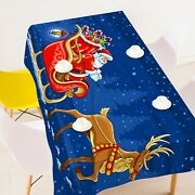 3d Santa Claus Sled P04 Christmas Tablecloth Table Cover Cloth Birthday Party Zo