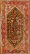 Antique All-over Vegetable Dye Green Oushak Turkish Area Rug Hand-made Wool 4x6