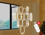 Dimmable Villa Crystal Light Chandelier Luxury Stairwell Ceiling Drops Lamps Yc