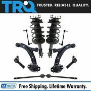 10 Piece Steering And Suspension Kit Loaded Struts Tie Rods Control Arms End Links