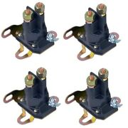 4pk Universal Starter Solenoid 1 Pole Or Post 12 Volt Fits 1/4 And 5/16 Terminal
