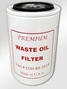 Premium Waste Oil Filter Coh-85-1614 Replaces Lenz Pt Cp-752-100m Made In Usa