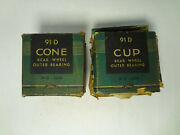 Nos Ford Bearings Races Cones Cups 91d-1239 91d-1240 Bower 18690 18620 Usa