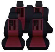 Dodge Seat Covers Fits 2012 To 2020 Dodge Ram American Flag Car Seat Covers Abf