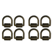 8 Black Weld On 1 D Ring W/ Brkt Clip Trailer Tow Truck Towing Chain Tie Down