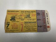 1960 Pittsburgh Pirates Vs New York Yankees Game 7 World Series Ticket Stub Rare