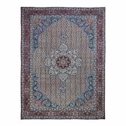 8and039x11and039 Antique Farsian Tebraz Flower Designhand Knotted Oriental Rug R48473