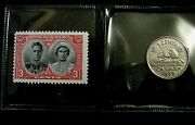 Canada 1939 Five 5 Cents Nickel Coin + Royal Visit Stamp Mnh
