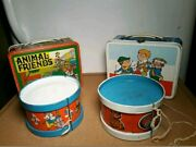 Vintage 1970s Ohio Art Metal Lunchboxes And Drums Lot