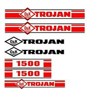 Trojan Wheel Loader 1500 Decal Set With O And K Decals