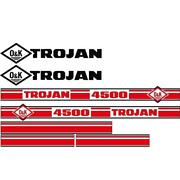 Trojan Wheel Loader 4500 Black And Red Decal Set With O And K Decals
