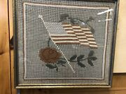 Period 48 Star American Flag Womans Patriotism Wwi Wwii Crochet Rose Found Maine
