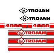 Trojan Wheel Loader 4000 Black And Red Decal Set With O And K Decals
