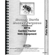 New Fits Massey Ferguson 16 Lawn And Garden Tractor Parts Manual