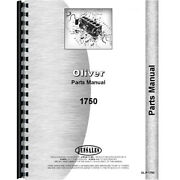 New Oliver 1750 Tractor Parts Manual