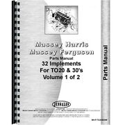 New Fits Massey Ferguson To20 Tractor Parts Manual Implements