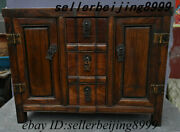 Antique China Dynasty Huang Huali Wood Drawer Locker Cabinet Altar Table Statue