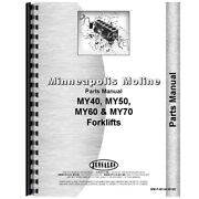 New Parts Manual Made For Minneapolis Moline Forklift Model My50