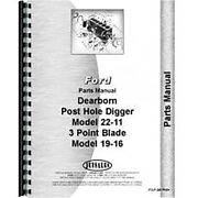 Parts Manual For Dearborn Tractor 3 Point Blade Danuser - Model 19-16