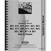 Operators Manual For Fo-o-601-801 Fits Ford 851 Tractor