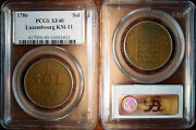 Rare 1786 Luxembourg Sol Pcgs Xf40