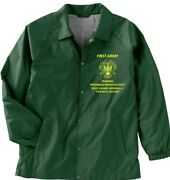 First Army Rock Island Arsenal-il Army Coaches Embroidered Lightweight Jacket