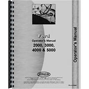 Operators Manual Fits Ford 5000 Tractor 4 Cyl
