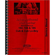 Tractor Service Manual For International Harvester Fits Cub 154 Lo-boy