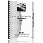 Gas And Lp Tractor Operatorand039s Manual For Minneapolis Moline U302 S356