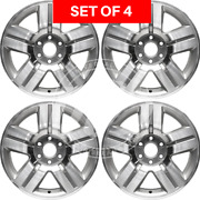 Four 20 Silver Replacement Alloy Wheel Rim Fit Chevrolet Avalanche 1500 Series