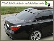 668 Jet Black Ac Type Trunk And Roof Spoiler For Bmw E60 528i 530i 535i 4dr 04-10