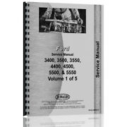 40340070 1965-1975 Service Manual Fits Ford 3400 Ind 3-cyl Tractor Only