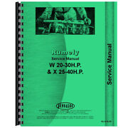 Tractor Service Manual For Rumely 25-40