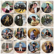 Bradford Exchange Elvis Collection Plates Looking At A Legend Set Of 16