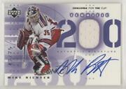 2001 Upper Deck Challenge For The Cup Terrific 200 /75 Mike Richter T-ri Auto