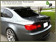 A52 Gray P-style Trunk Spoiler + Ac Roof Wing For Bmw E92 3-series Coupe 07-13