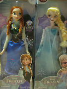 Disney Store Authentic Frozen 16 In Elsa And Anna Singing Light Up Doll Set - Rare