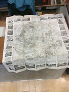 Map Of Paris - 1828 - 33 Inches Tall 32 Wide - Folded Into Hardcover Case