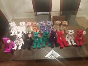 Lot Of 17 Ty Beanie Babies Bearsandretired Classic Collectible Princess Peace Erin