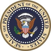 Us President Presidential Seal Desk Handcrafted Wood Podium Plaque White