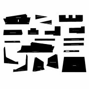 New Black Cab Kit W/ Headliner And Post Material Fits Allis Chalmers 7850 8550