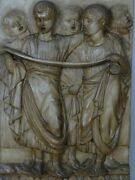 Plate Tile Ceramic August Emperor Rome Signa Florence Dini Bas-relief Italy Clay