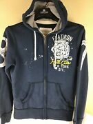 Aeropostale Athletic Dept New York Hoodie Embroidered Double Sided Distressed