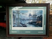 John Stobart Signed And Numbered Baltimore Federal Hill And The Marine Observatory