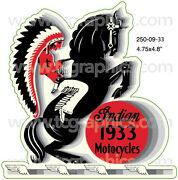 Indian 1933 Motorcycles Vintage Style Decal/sticker